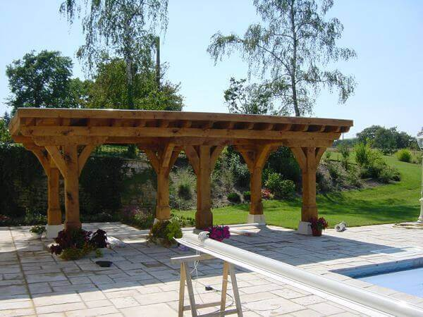 construire une pergola en bois terrasse en bois. Black Bedroom Furniture Sets. Home Design Ideas